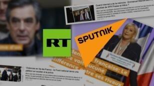 """تركيب لصور من موقعي """"ار تي"""" و""""سبوتنيك"""" بالفرنسية"""
