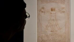 """""""L'Homme de Vitruve"""", de Léonard de Vinci."""