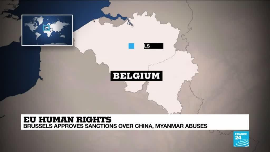 2021-03-22 13:09 Brussels approves sanctions over China, Myanmar abuses