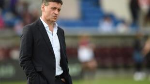 Le président du club de Bordeaux-Bègles, le 11 mars 2020 avant un match contre Grenoble, au stade Chaban-Delmas