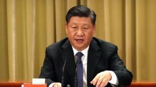 Le président chinois Xi Jinping, lors d'un discours prononcé à Pékin, le 2 janvier 2019.