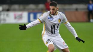 L'attaquant franco-algérien de Lille Yassine Benzia lors d'un match contre Guingamp, le 13 janvier 2016.