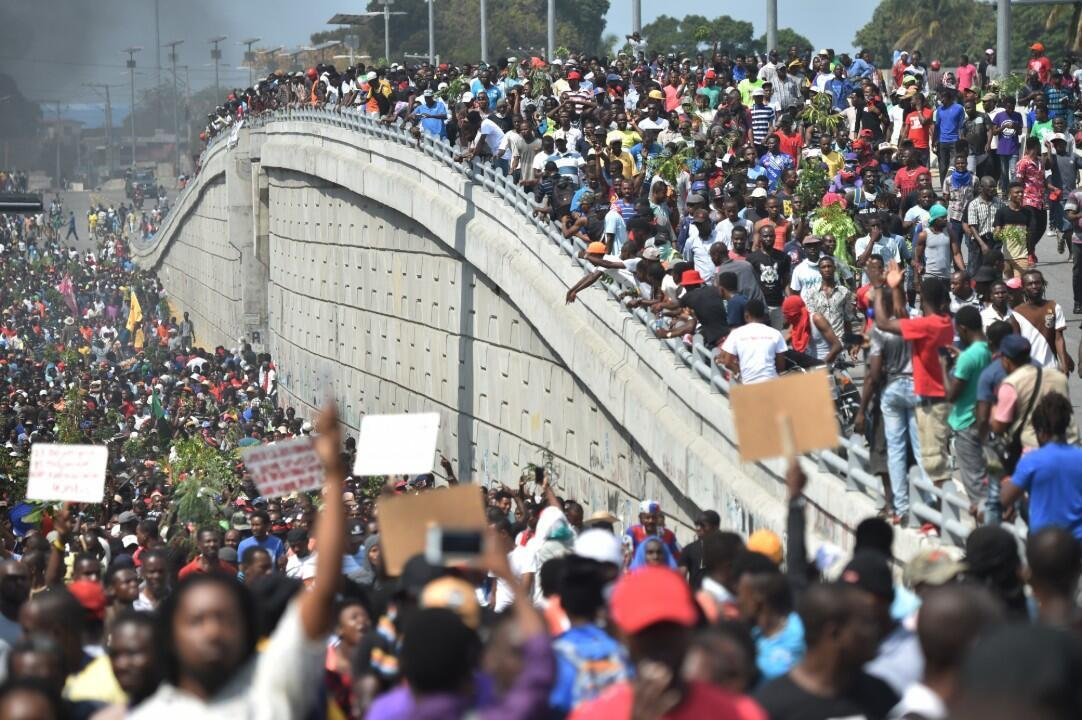 La población haitiana marchó durante todo el mes de febrero, ante el segundo aniversario del Gobierno del presidente Jovenel Moïse.