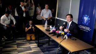 El presidente de Conmebol, Alejandro Domínguez, informó a los medios el 27 de noviembre que tras lo ocurrido en Buenos Aires el partido deberá jugarse fuera de Argentina