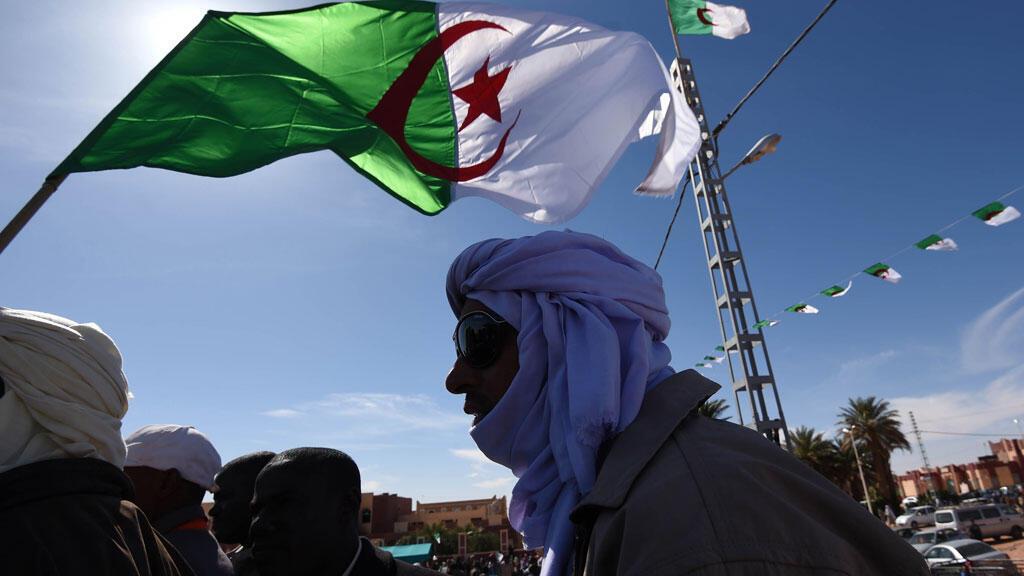 À In Salah, au cours d'une manifestation contre le gaz de schiste, le 5 mars dernier.