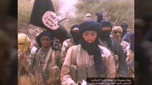 Capture d'écran d'une vidéo de propagande montrant le leader jihadiste Sultan Ould Bady.