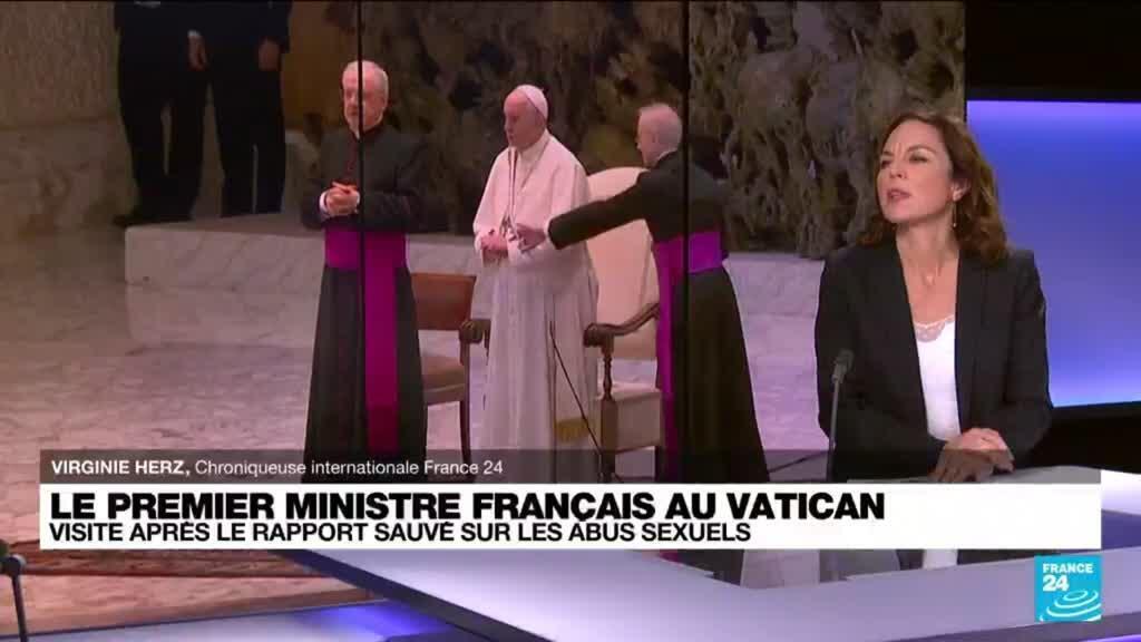 2021-10-18 10:05 Castex à la rencontre du pape, au milieu d'une tempête pour l'Eglise de France