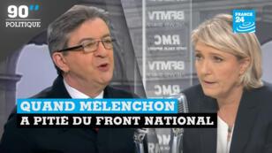 Jean-Luc Mélenchon et Marine Le Pen sont tous deux candidats à l'élection présidentielle de 2017.