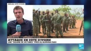 2020-06-11 14:01 Attaque en Côte d'Ivoire : plusieurs morts à la frontière avec le Burkina Faso