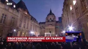 """2020-10-21 19:05 Hommage national à Samuel Paty : le choix de la Sorbonne, un """"symbole très fort"""""""