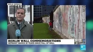 2019-11-09 10:01 FRANCE 24's Berlin correspondent Nick Spicer has the latest on Berlin wall's 30th anniversary commemorations