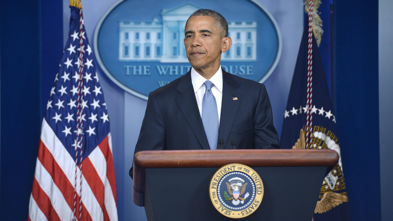 Le président américain Barack Obama a présenté ses condoléances aux familles des otages tués, le 23 avril 2015.