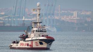 Le navire humanitaire Proactiva Open Arms, le 28 décembre 2018, prés des côtes espagnoles.