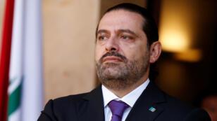 El primer ministro de Líbano, Saad al-Hariri, es visto en el palacio gubernamental de Beirut, Líbano, el 24 de octubre de 2017. Foto tomada el 24 de octubre de 2017.