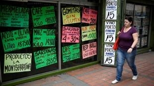 Ever changing prices at a Caracas store: inflation in Venezuela is expected to hit a staggering one million percent this year