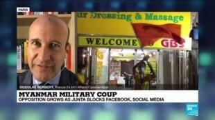 2021-02-04 11:03 Myanmar military coup: Opposition grows as junta blocks social media