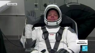 2020-05-27 12:12 Vol historique pour SpaceX qui va envoyer pour la première fois des astronautes dans l'espace