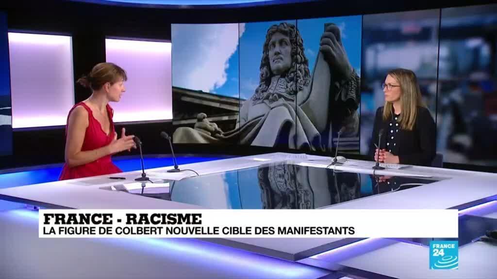 2020-06-15 18:06 Racisme en France : la figure de Colbert, auteur du code noir, nouvelle cible des manifestants
