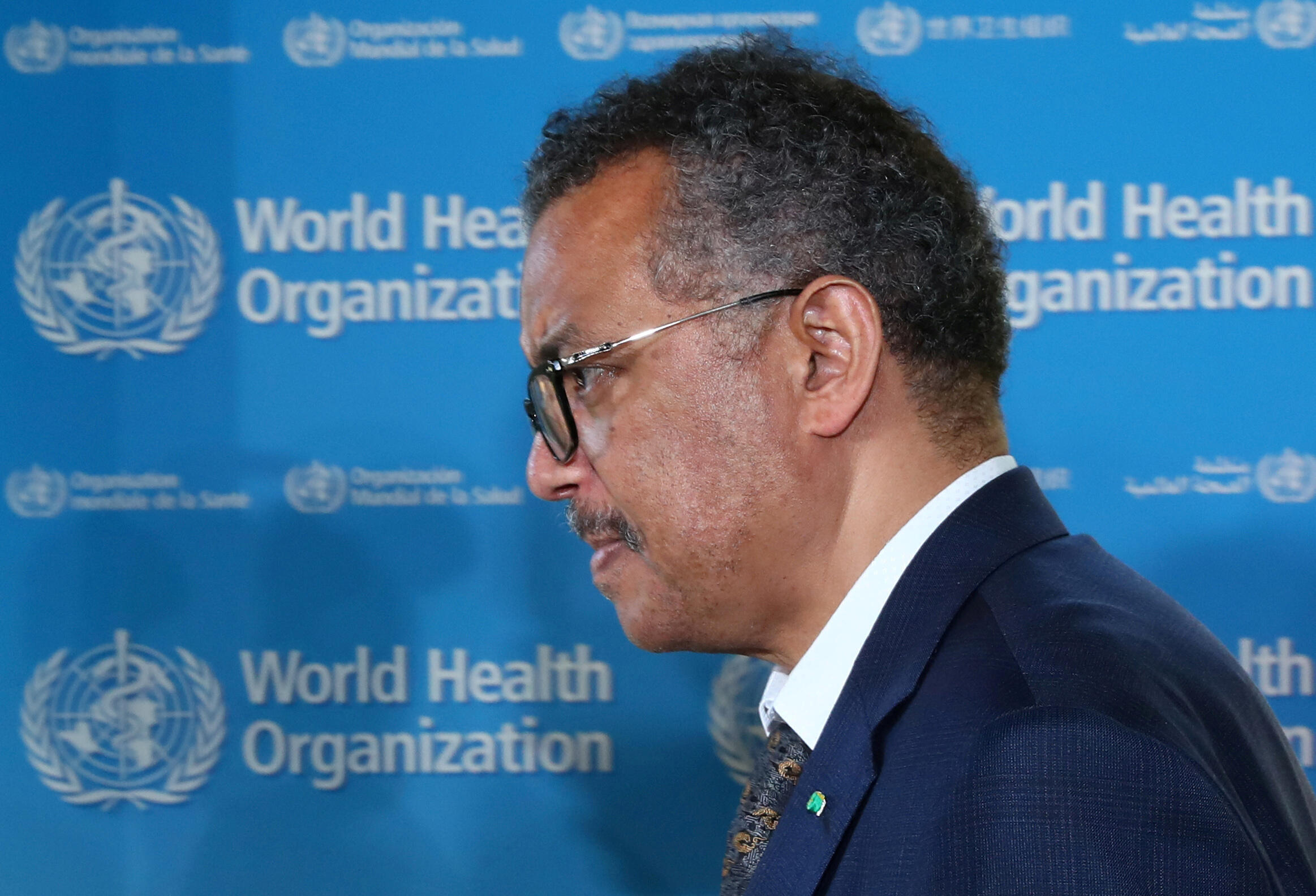 Tedros Adhanom Ghebreyesus, director general of the World Health Organization (WHO), attends a news conference in Geneva, Switzerland on June 25, 2020.