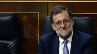 Mariano Rajoy, chef du  gouvernement espagnol sortant, au Parlement, le 31 août 2016.