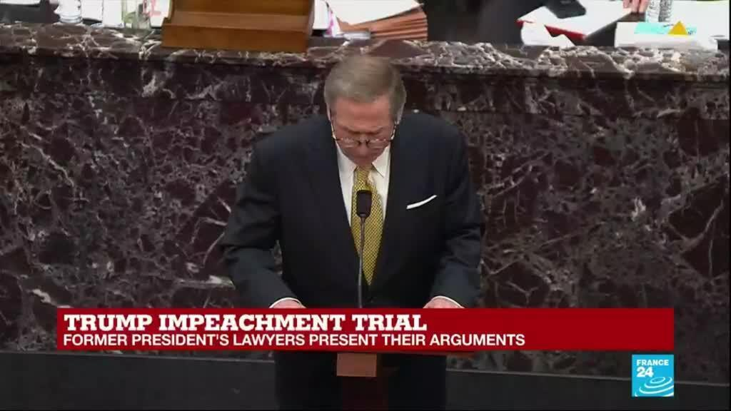 2021-02-12 18:04 Trump impeachment trial: Defense denounces trial as 'act of political vengeance'