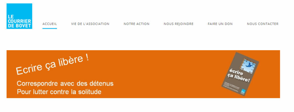 Capture d'écran du site du Courrier de Bovet.