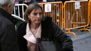 La presidenta del Parlamento catalán llega a la Corte Suprema de Justicia de España, antes de ser puesta bajo custodia en Madrid, España.