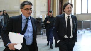 Le financier Arnaud Mimran, à droite, et son avocat, le 25 mai 2016.