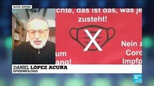 """2021-04-04 14:38 Daniel López: """"Protestas en Europa son dañinas para el control de la pandemia"""""""