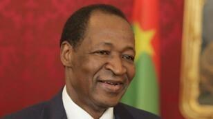 L'ex-président burkinabè Blaise Compaoré, en visite en Autriche, en 2013.