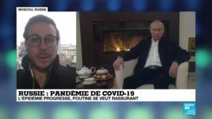 2020-04-20 09:08 Pandémie de Covid-19 : Hausse record du nombre de cas en Russie