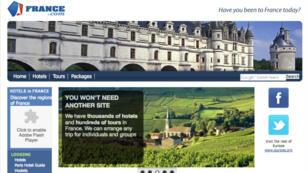 Le site France.com en 2012.