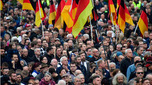 La manifestation anti-migrants du 1er septembre à Chemnitz.