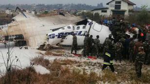 تحطم طائرة تابعة لشركة US-Bangla Airlines في 12 مارس بالقرب من مطار كاتمندو في نيبال.