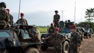 Soldats français stationnés au Cameroun