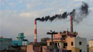 Une usine en Inde, l'un des cinq plus gros pays émetteurs de CO2.