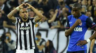 Le milieu de terrain de la Juve Arturo Vidal a donné la victoire à la Juventus Turin.