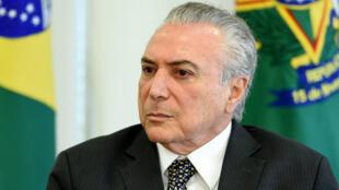 Le président Michel Temer à Brasilia, jeudi 25 mai 2017.