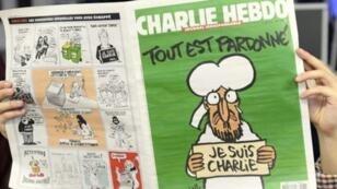 """Une du """"numéro des survivants"""" de Charlie Hebdo."""