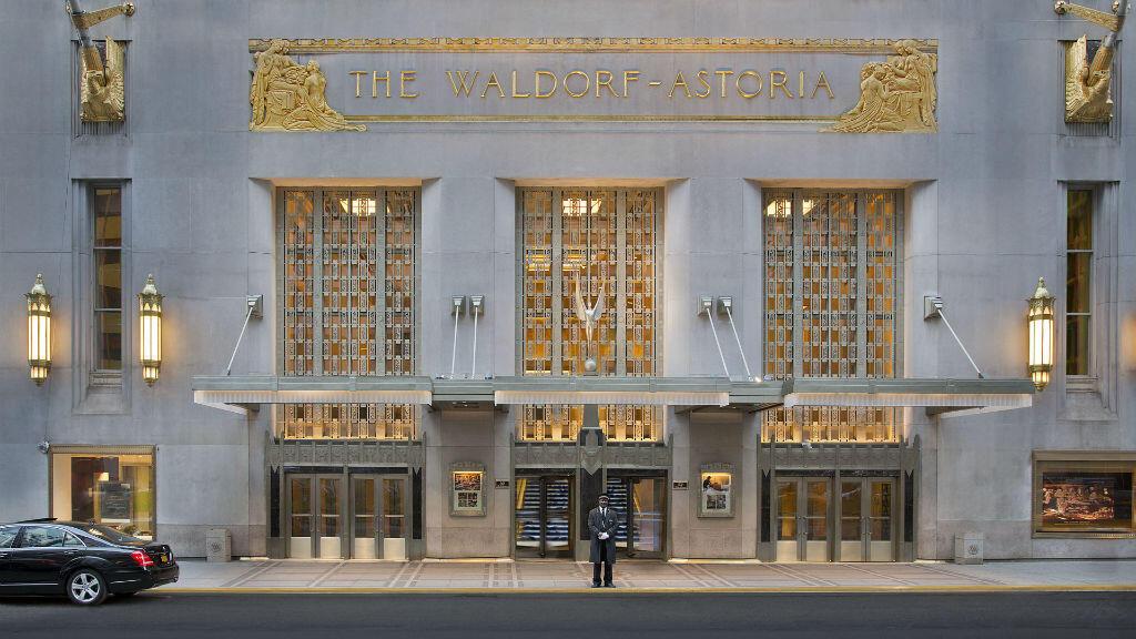 Le Waldorf Astoria sur Park Avenue, New York.