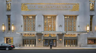 Le Waldorf Astoria sur Park Avenue, New York.