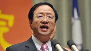 Le Premier ministre taïwanais Jiang Yi-huah  le 15 octobre au parlement de Taïwan.