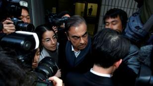 Carlos Ghosn après un rendez-vous avec son avocat japonais à Tokyo, le 12 mars 2019.