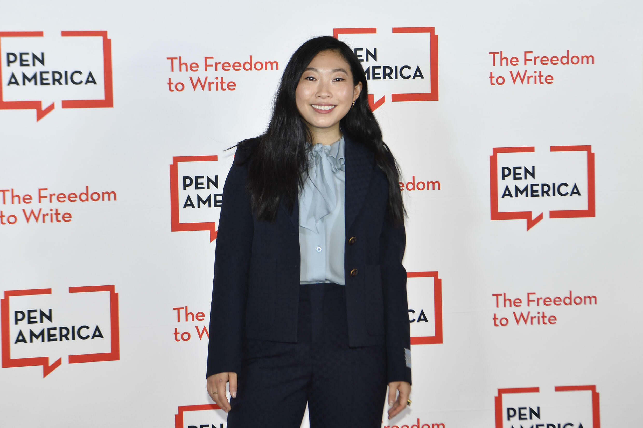 American actress Awkwafina attends the Pen America Literary Gala at the American Museum of Natural History on October 5, 2021 in New York City