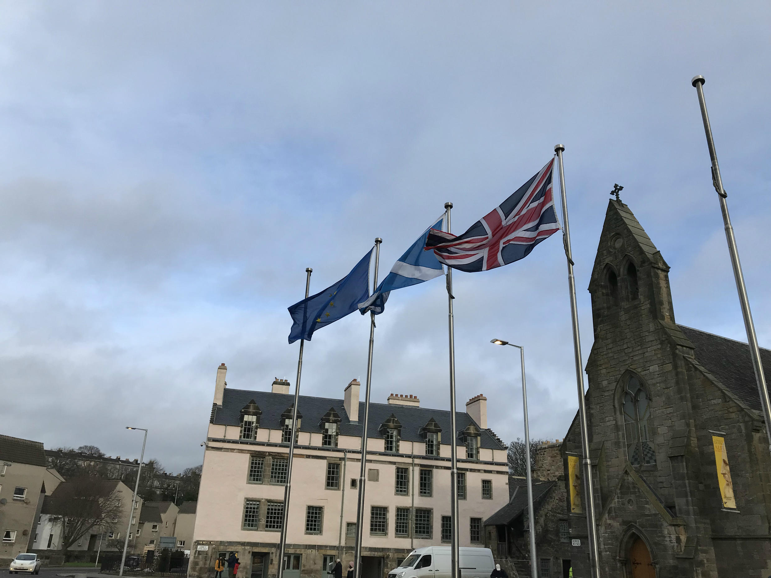 Members of the Scottish parliament voted on Wednesday to keep the European flag flying after Brexit.