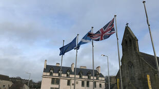 Scottish parliament flags m