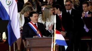 Le président paraguayen, Horacio Cartes