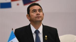 Archivo: el presidente de Guatemala, Jimmy Morales, en la sesión de apertura de la LIII reunión del SICA. Sistema de Integración Centroamericano. Ciudad de Guatemala, Guatemala.
