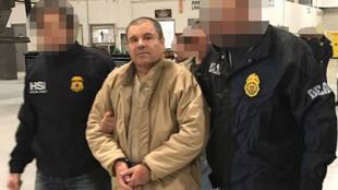 """""""El Chapo"""" Guzmán el 19 de enero del 2017, día de su extradicción a Estados Unidos desde México."""