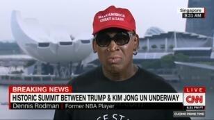 Dennis Rodman n'a pas réussi à retenir ses larmes sur CNN après la poignée de main entre Donald Trump et Kim Jong-un.